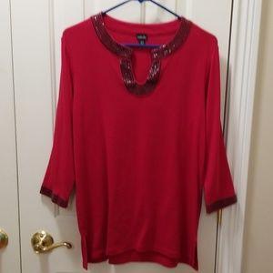 Rafaella red blouse sz M